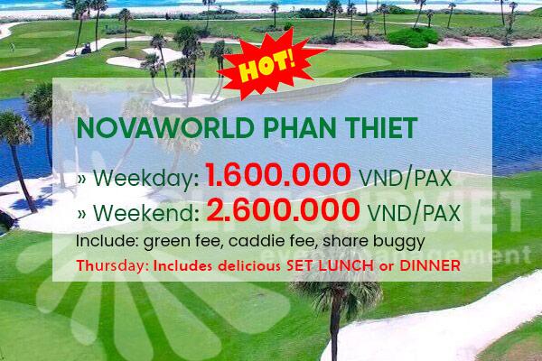 Bảng giá sân golf NovaWorld Phan Thiết