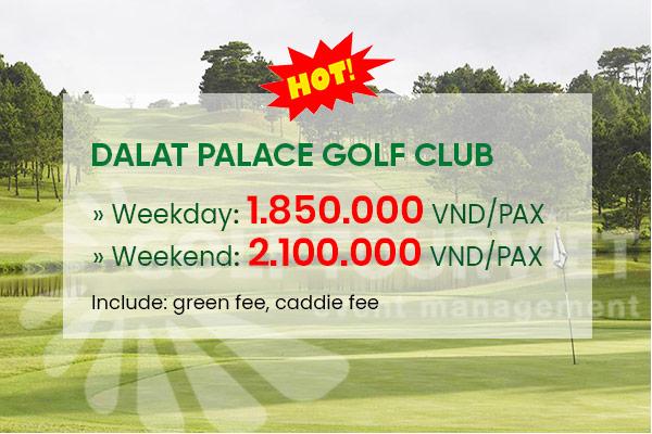 Bảng giá sân golf Đà Lạt Palace Golf Club