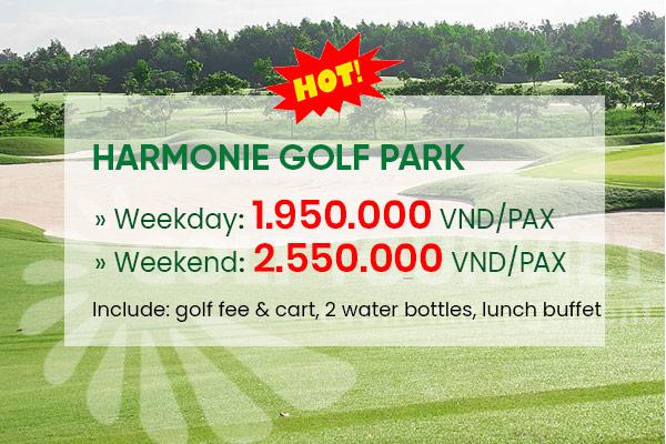 Bảng giá sân golf Harmonie Golf Park