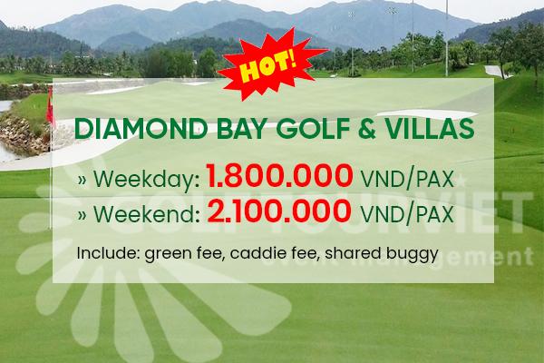 Bảng giá sân Golf: Diamond Bay Golf & Villas tháng 10 năm 2021