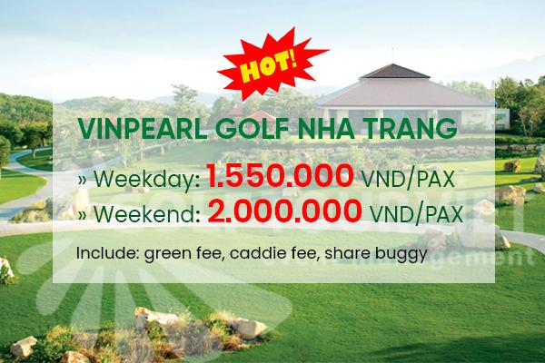 Bảng giá sân golf Vinpearl Nha Trang tháng 10 năm 2021